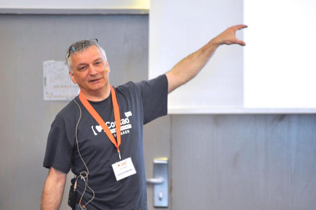 Peter Müller in Aktion