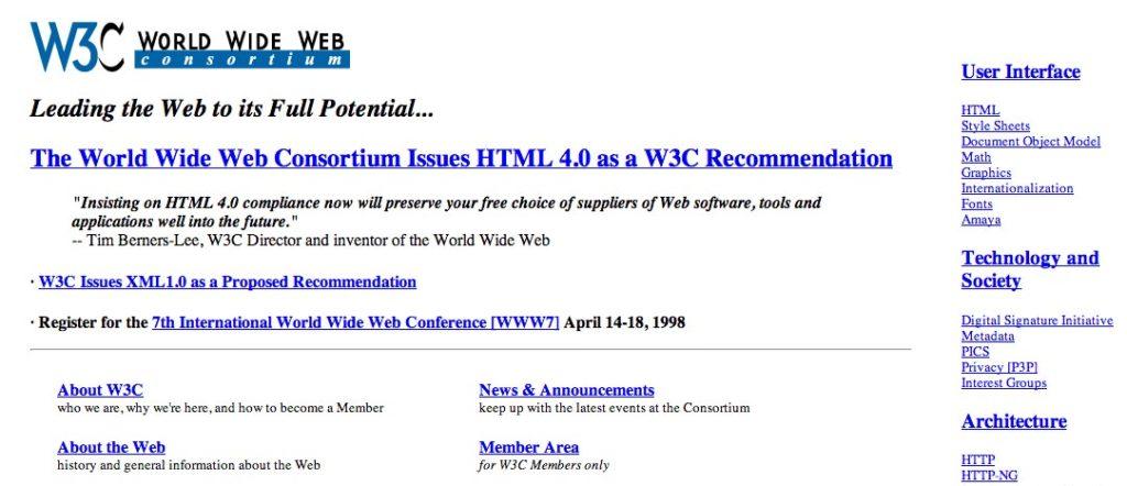 1998 - W3C - HTML4.0