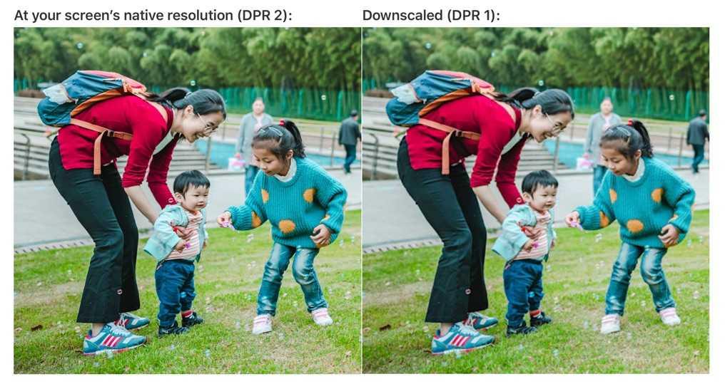 DPR von Fotos vergleichen