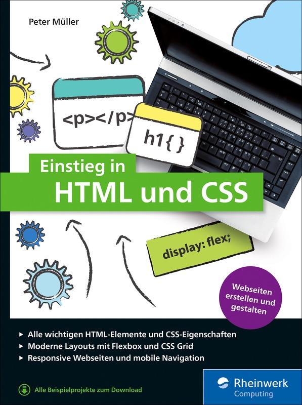 Coverfoto für das Buch »Einstieg in HTML und CSS« von Peter Müller