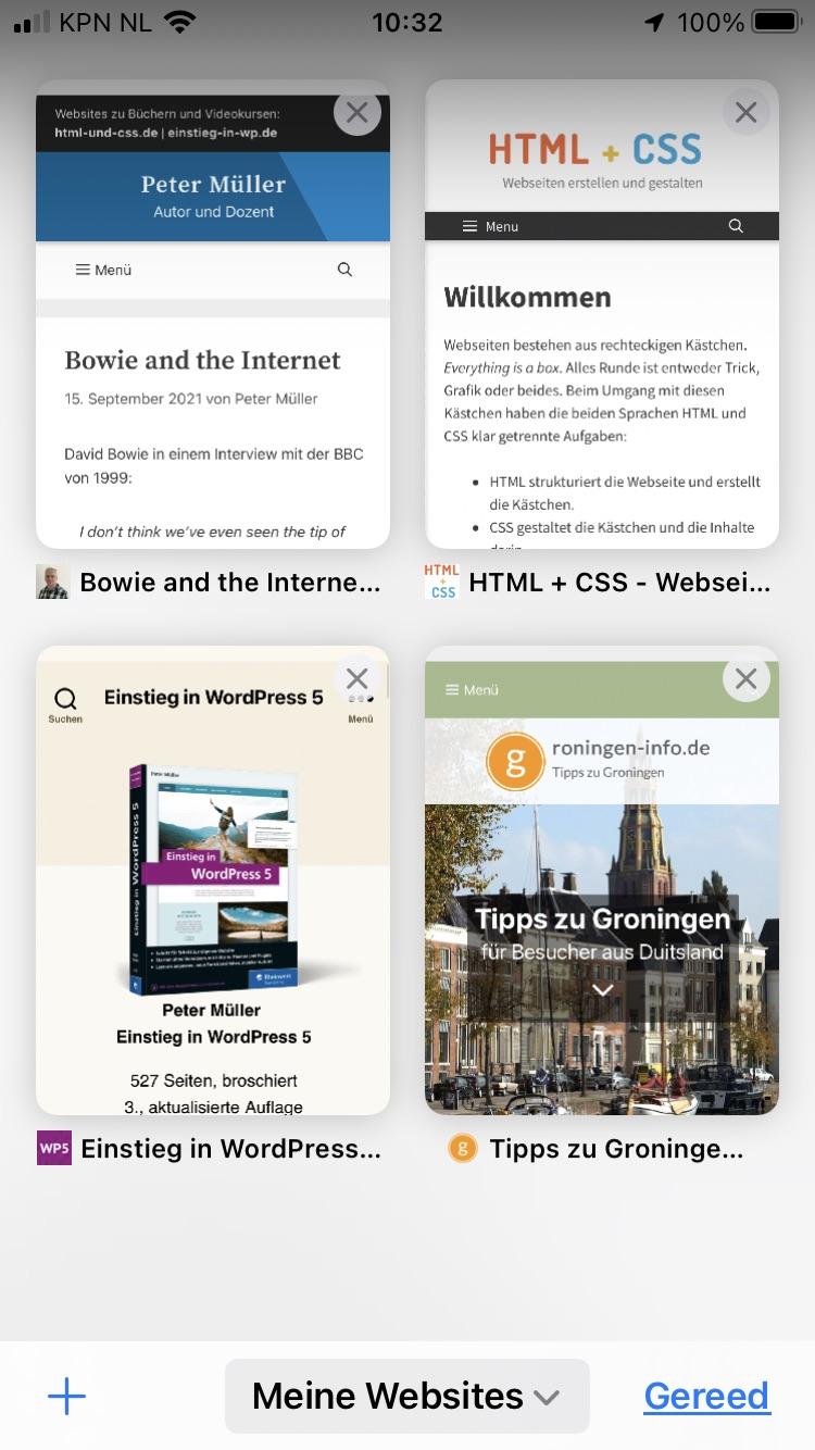 Safari 15 iOS mit Tabverwaltung und Tabgruppen